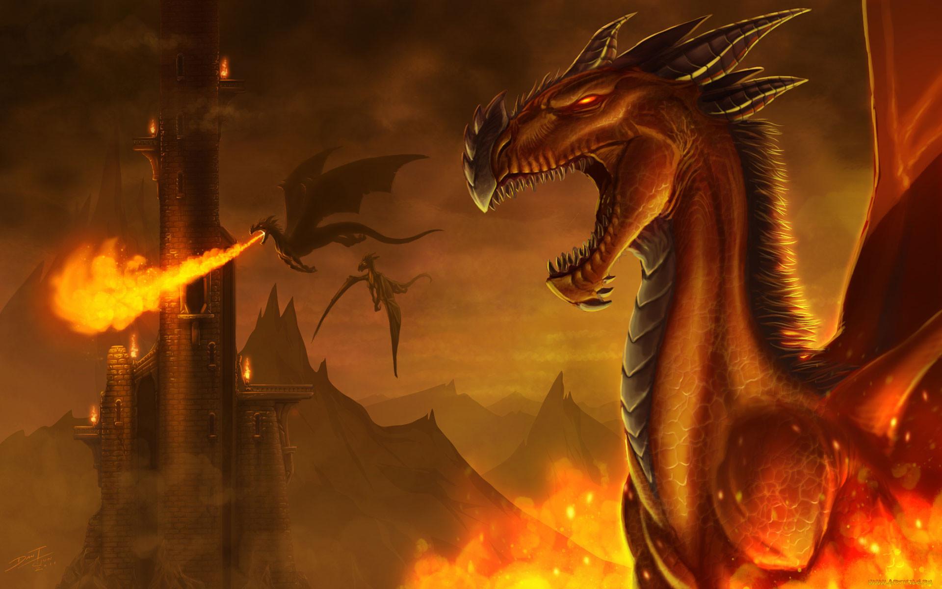 картинки огневого дракона решил